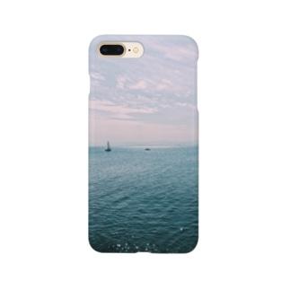 海水平線キラキラ Smartphone cases