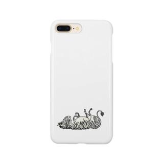 つかれたしまうまのiPhoneケース Smartphone cases