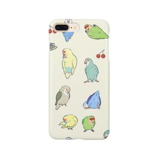 コザクラインコとさくらんぼ Smartphone cases