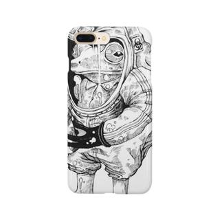 ちょー危険な物を持つカエル Smartphone cases
