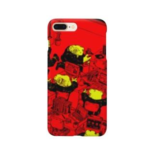 働くカエル達 Smartphone cases