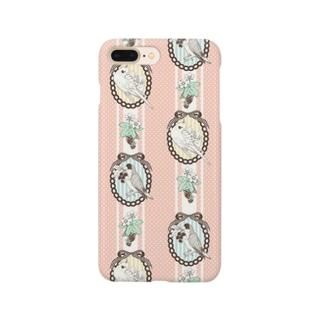 コザクラ&オカメ(ピンク) Smartphone cases