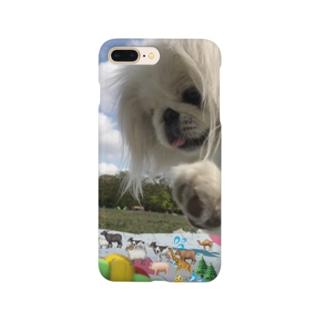 怪獣になったピザくん Smartphone cases