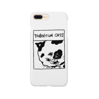化け猫ドットフィアーフェイス Smartphone cases
