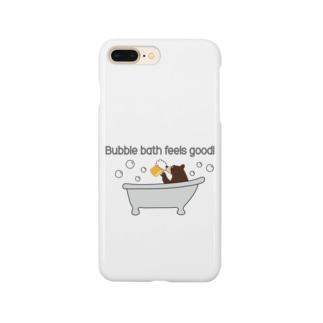 ビールベアー イン バブルバス Smartphone cases