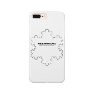 コッホ曲線(コッホ雪片):フラクタル・カオス:科学:学問・数学 Smartphone cases