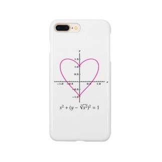 ハートのグラフを描く方程式:数式:数学:おもしろ Smartphone cases