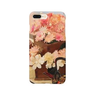 春(和紙花)スマートフォンケース Smartphone cases