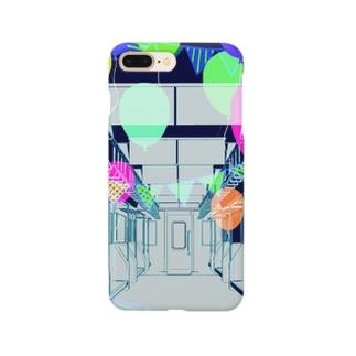 電車内/風船 Smartphone cases