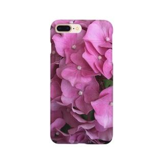 higanbanaのピンクの紫陽花 Smartphone cases