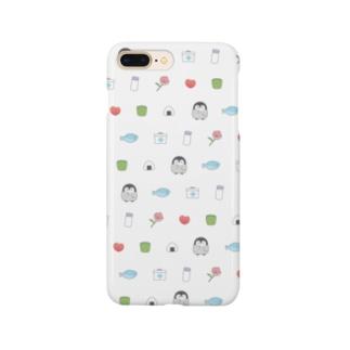 心くばりペンギン / もちものver. Smartphone cases