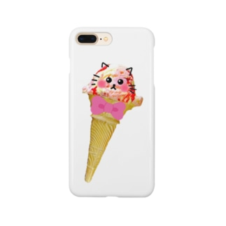 にゃんこアイス❤︎ Smartphone cases