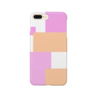 ピンク×オレンジ バイカラー Smartphone Case