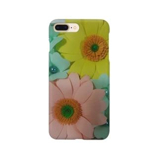 ペーパーフラワー(ガーベラ) Smartphone cases
