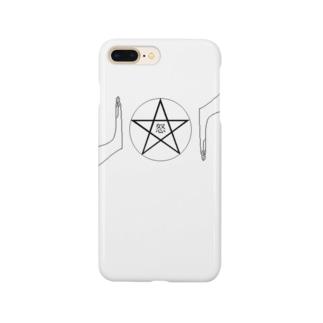 人よけ - ペンタグラム Smartphone cases