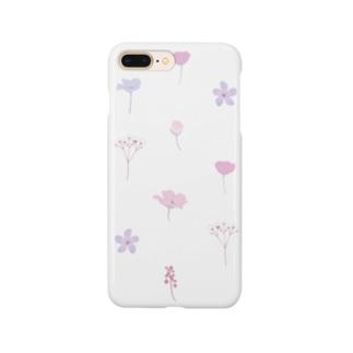 押し花風 Smartphone cases