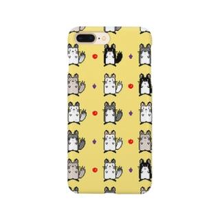 チンチラドット絵ケース Smartphone cases