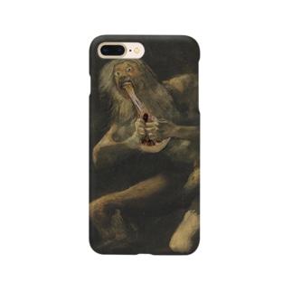 ピザを喰らうサトゥルヌス Smartphone cases