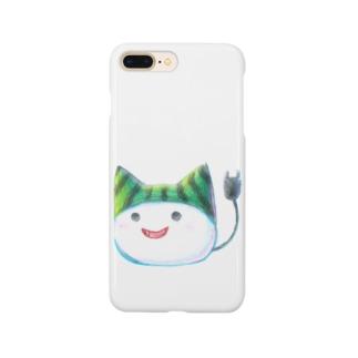 スイカ帽子ねこさん Smartphone cases