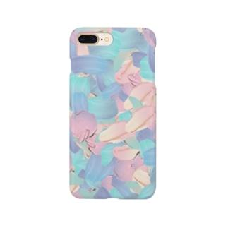 パステルな油絵の具 Smartphone cases