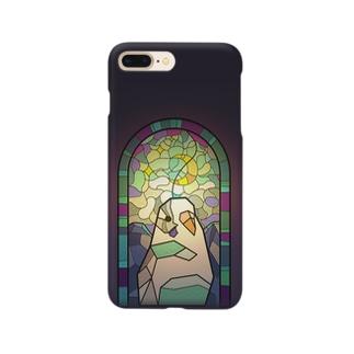 聖パロット教会・セキセイインコ(白) Smartphone cases