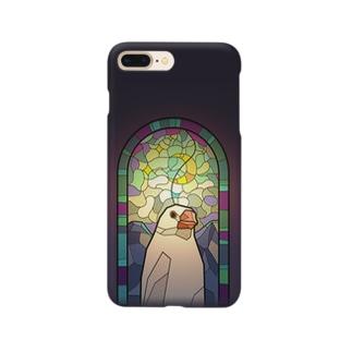 聖フィンチ教会・白文鳥 Smartphone cases