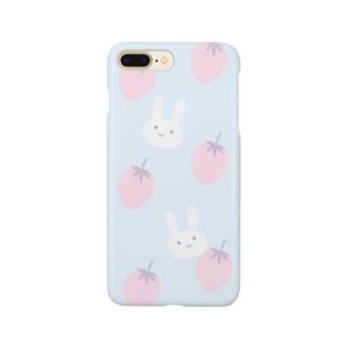 うさぎといちご Smartphone cases
