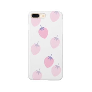 いちご柄 Smartphone cases