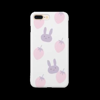 kuroki  miyaのいちごとうさぎ Smartphone cases