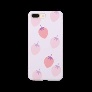 kuroki  miyaのいちご柄 Smartphone cases