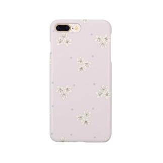 小花柄 Smartphone cases