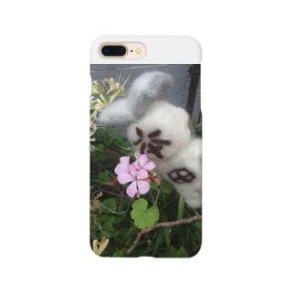 花を愛でる本田 Smartphone cases