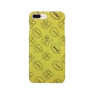 総柄本田黄色 Smartphone cases