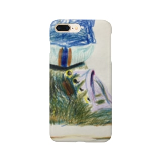 スニーカーの絵 Smartphone cases