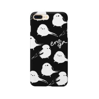 モノクロエナガちゃん Smartphone cases