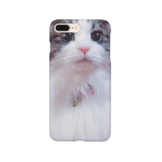 ドアップな猫 Smartphone cases