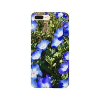 幸せの青い花 Smartphone cases