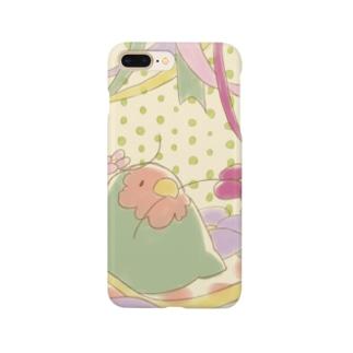 花とコザクラインコ Smartphone cases