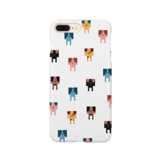 ドットわんこスマホケース Smartphone cases