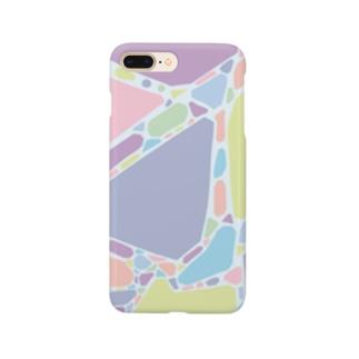 カラフル大理石 Smartphone cases