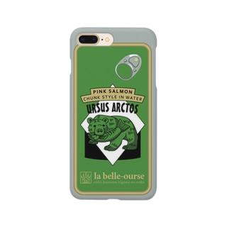 缶詰柄スマホケース(グリーン) Smartphone cases