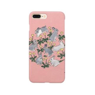 タンポポ大好きうさぎさん Smartphone cases