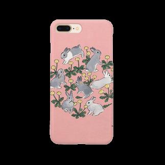 SCHINAKO'Sのタンポポ大好きうさぎさん Smartphone cases