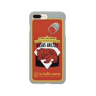 缶詰柄スマホケース(オレンジ) Smartphone cases