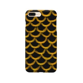 鱗(黒金) Smartphone cases