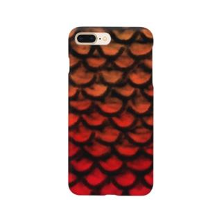 鱗(赤) Smartphone cases