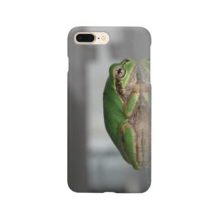 カエルさんの横顔 Smartphone cases