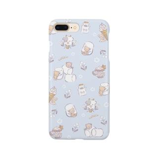 クリーミィくまちゃん(ブルー) Smartphone cases