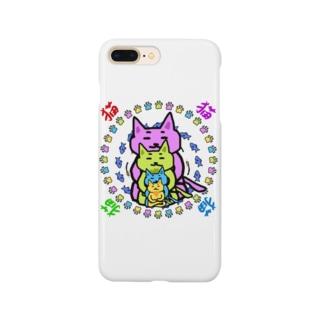 夏のどんぶり(ドンブリ) ブラザーズ【ドンブラ】のねこ曼荼羅 Smartphone cases