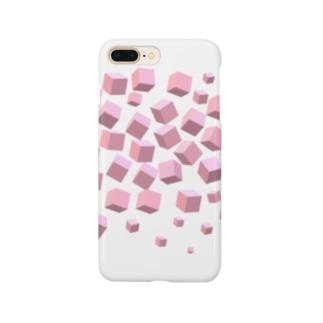 ピンクボックス散乱 Smartphone cases